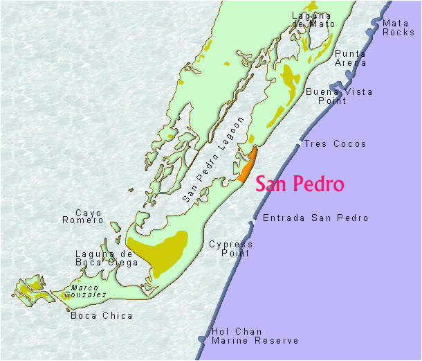 belize maps map of ambergris caye belize and belizean area