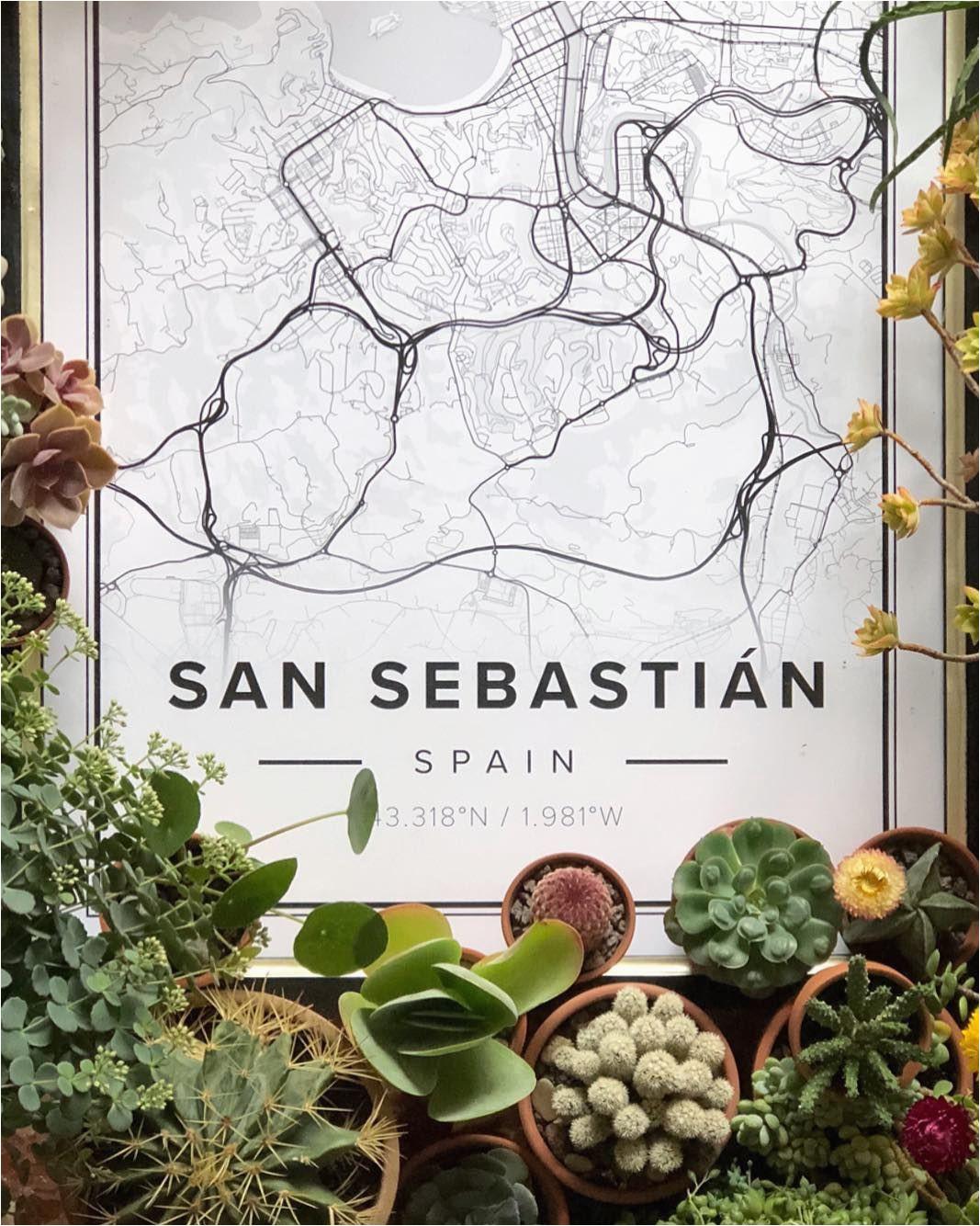 map poster of san sebastian spain print size 50 x 70 cm available
