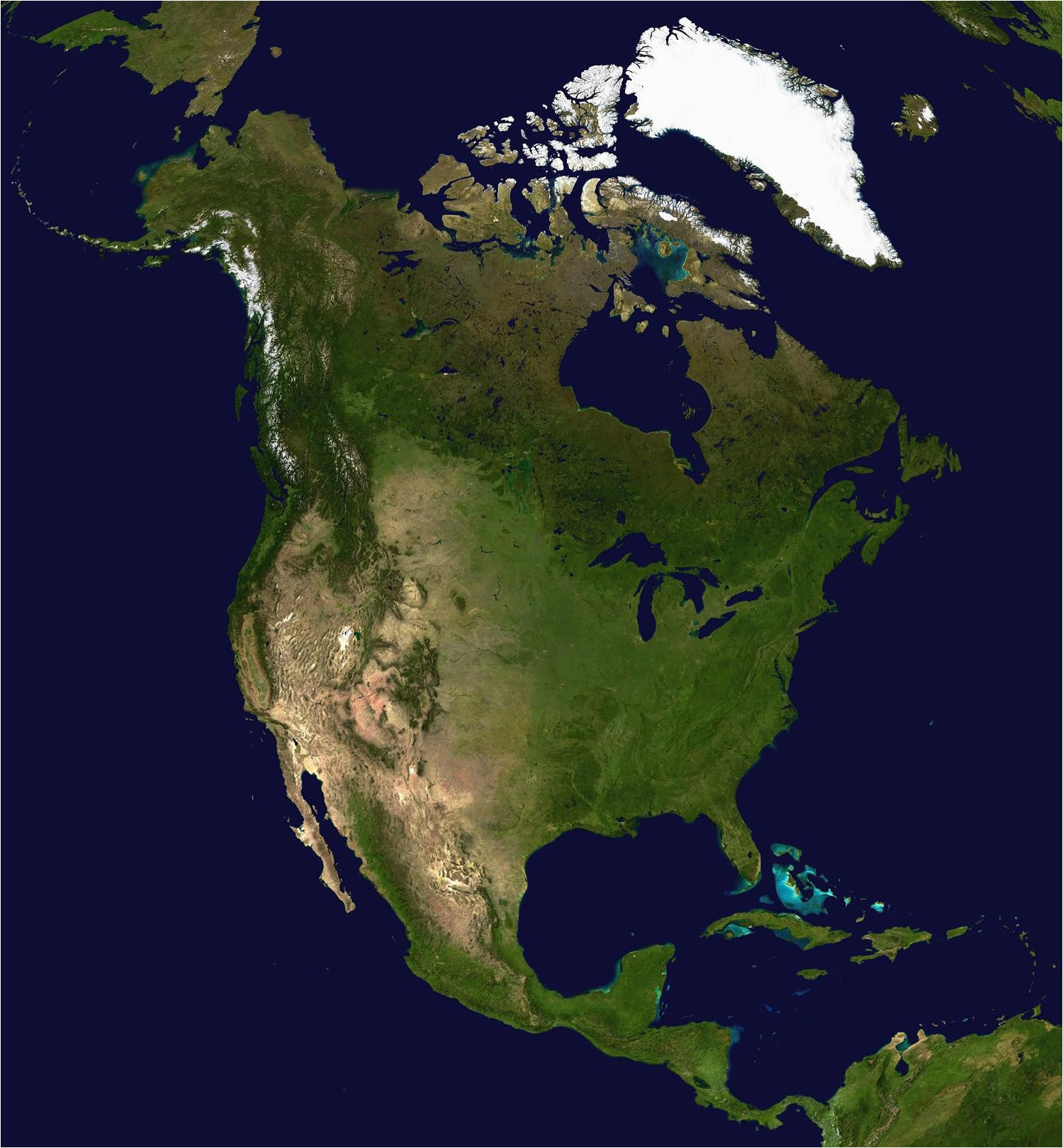 printable north america map and satellite image large wall united