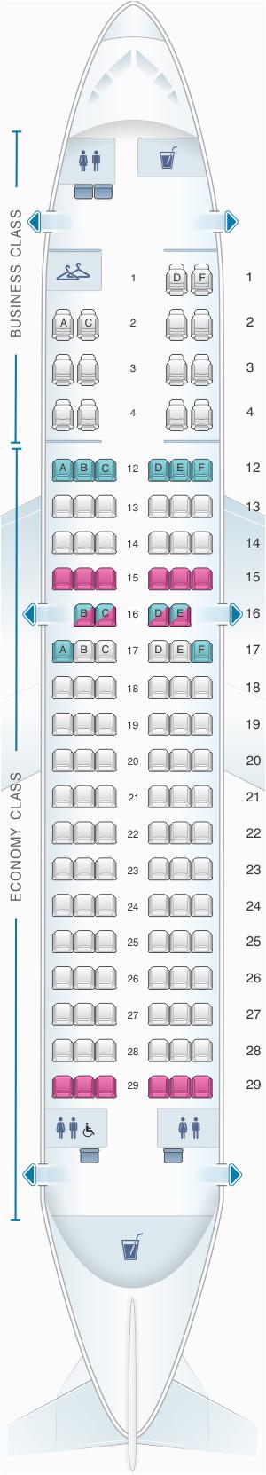 seat map air canada airbus a319 100 seatmaestro