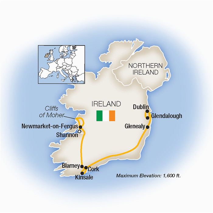ireland guided tours escorted vacations tauck