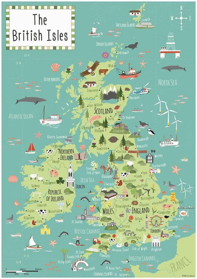 british isles map bek cruddace maps map british isles travel