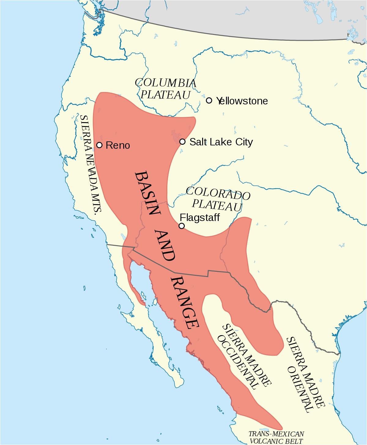 basin and range province wikipedia