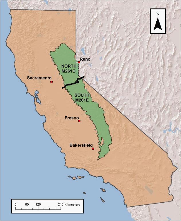 map of california sierra nevada mountains sierra nevada