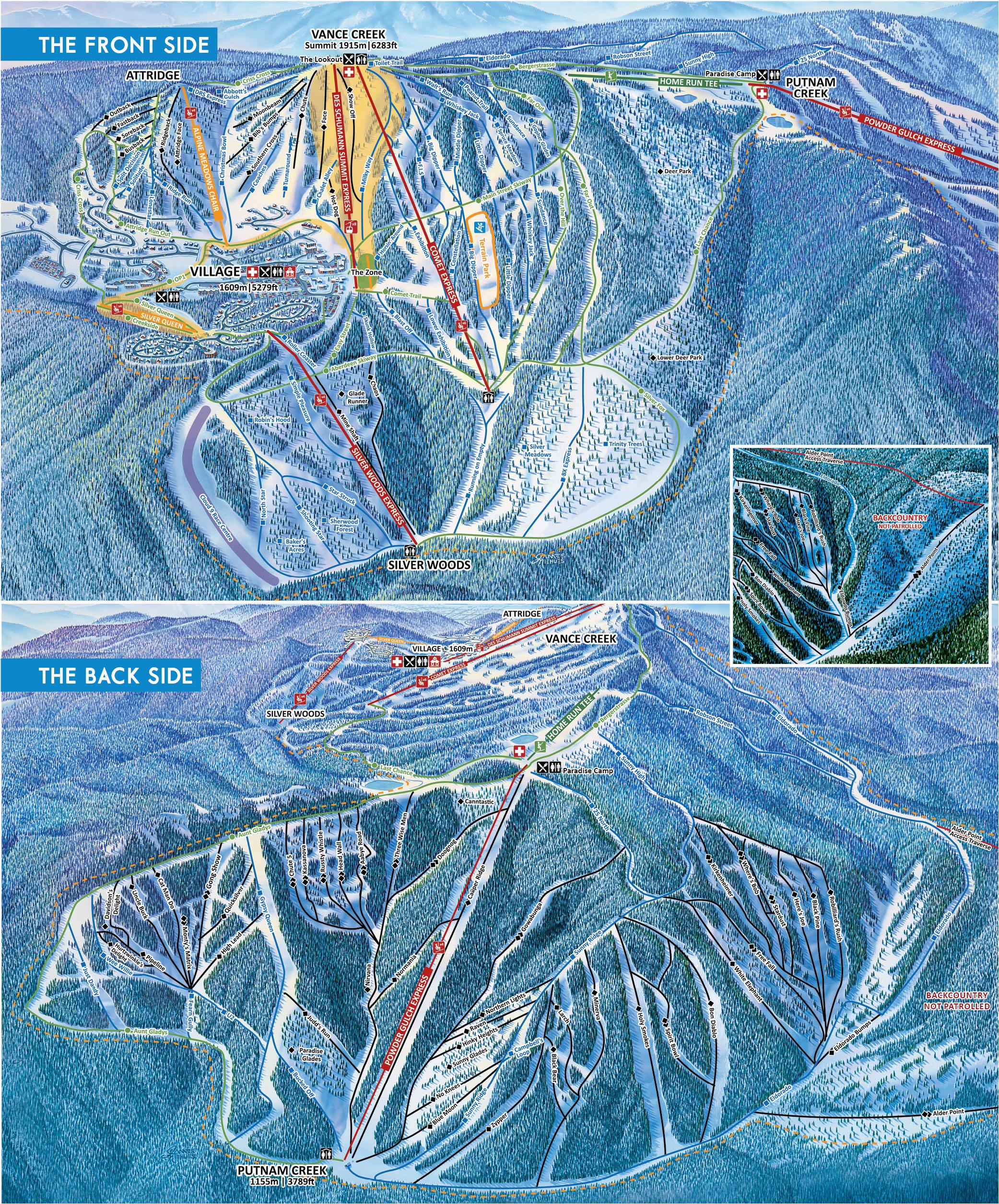 alpine trail maps silver star mountain resort