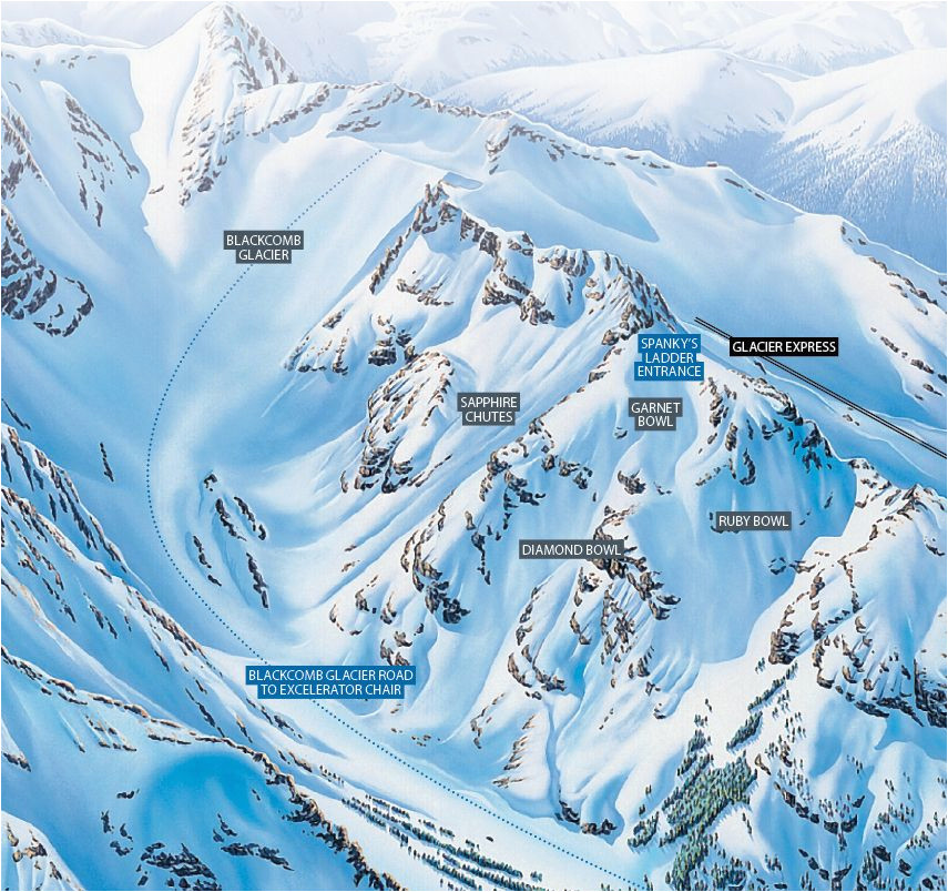 how to ski whistler blackcomb s spanky s ladder where to
