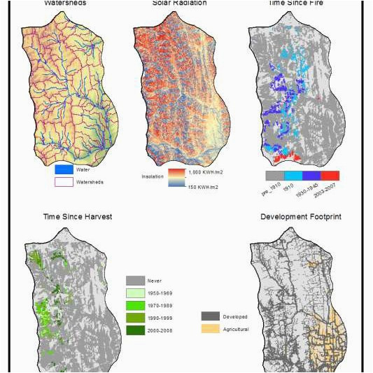 spatial data layers accounting for watersheds solar