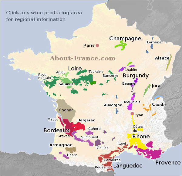 map of french vineyards wine growing areas of france