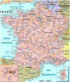 South Of France Map Detailed 9 Best Maps Of France Images In 2014 France Map France France