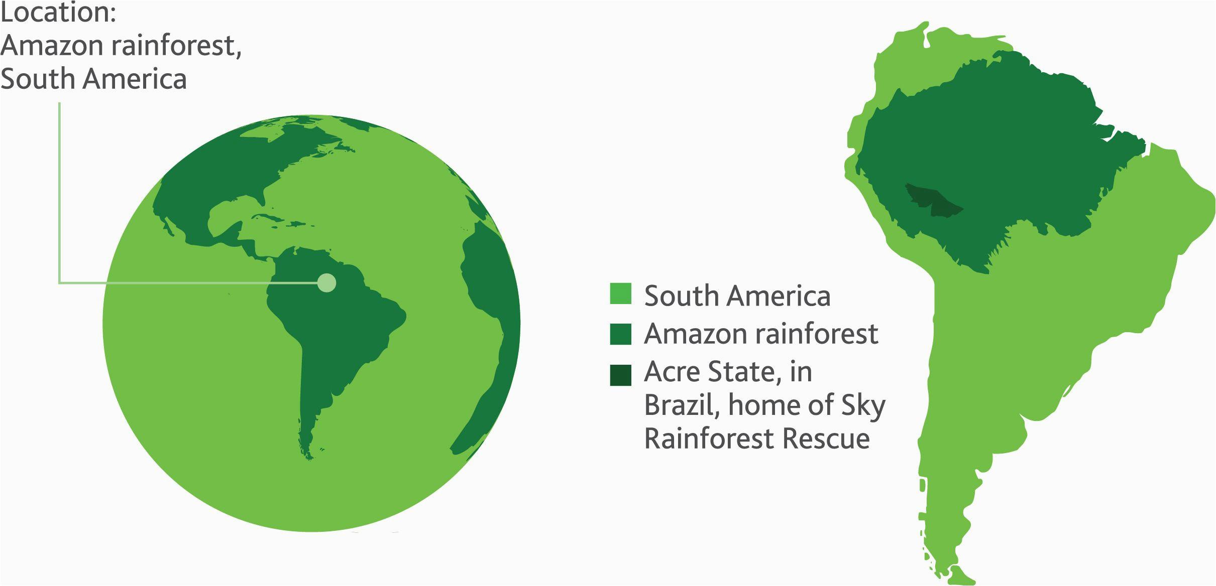 amazon rainforest map google search south america