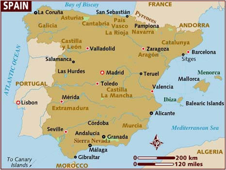 Southern Spain Resorts Map Map Of Spain