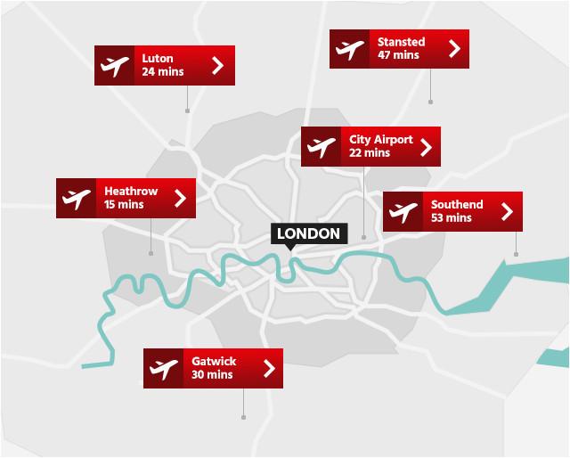 london airports map airport visitlondon com