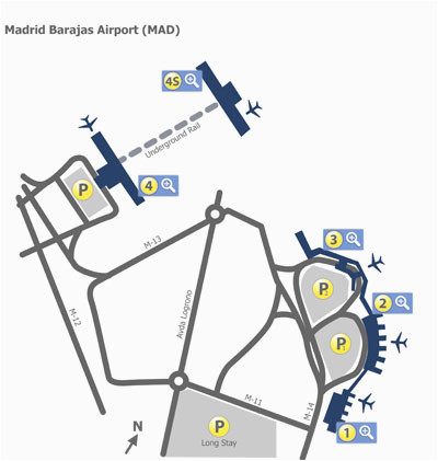 madrid barajas airport mad terminal maps map of all terminals at