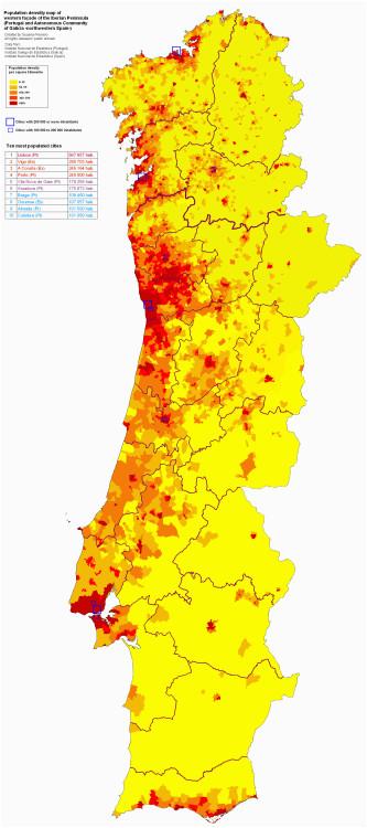 western faa ade of the iberian peninsula population density harti