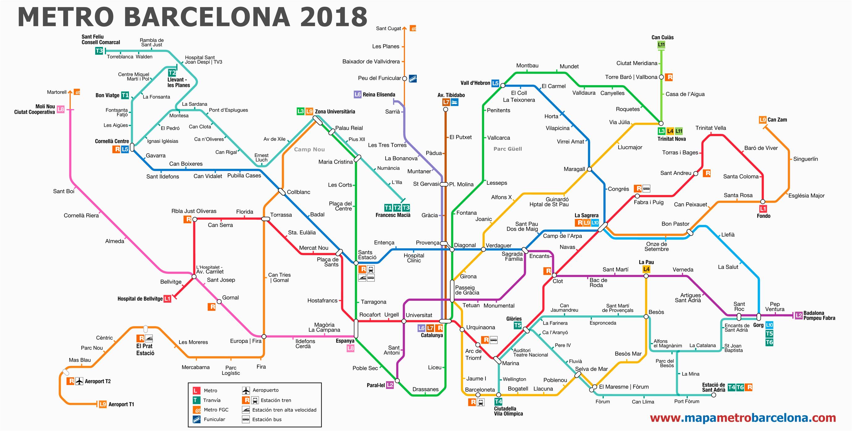 subway map barcelona map north east