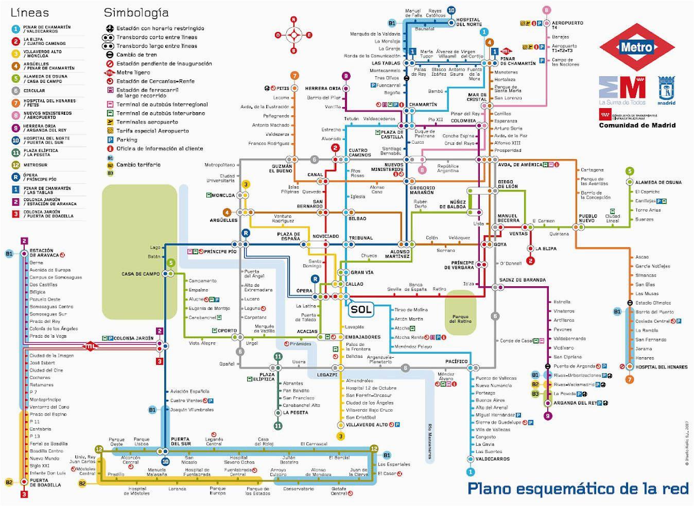 subway map of madrid spain