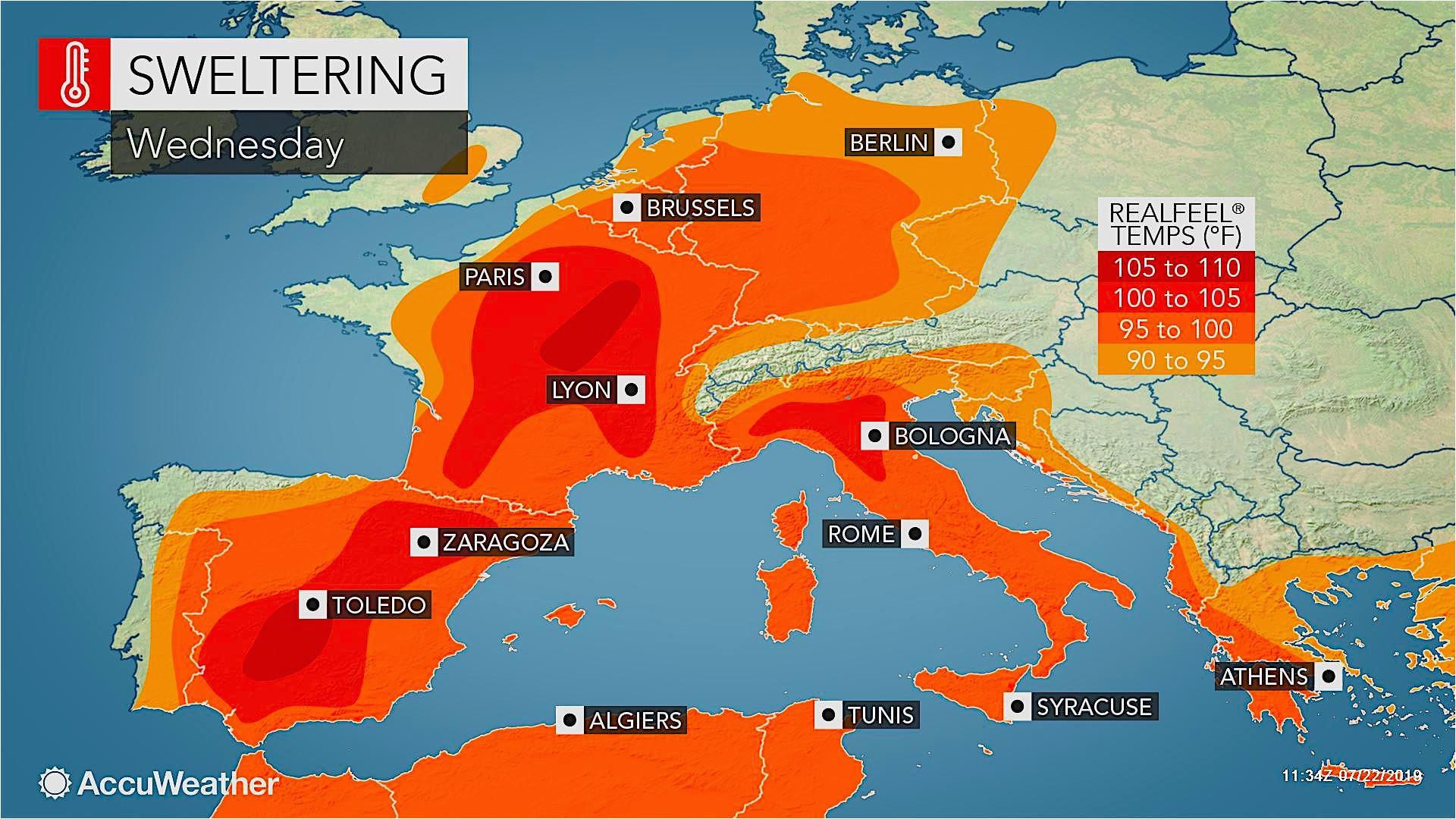 Spain Temperature Map Valencia Weather Accuweather forecast ...