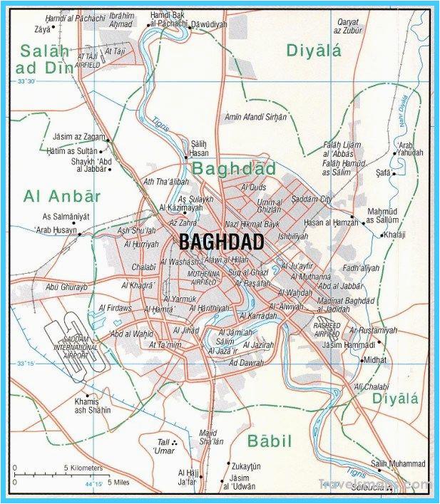 nice map of baghdad travelsmaps in 2019 baghdad map