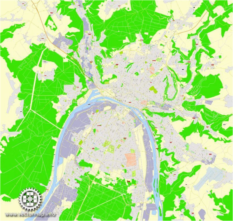 Street Map Of Rouen France Rouen Metro area Pdf Map France Exact Vector Street G View