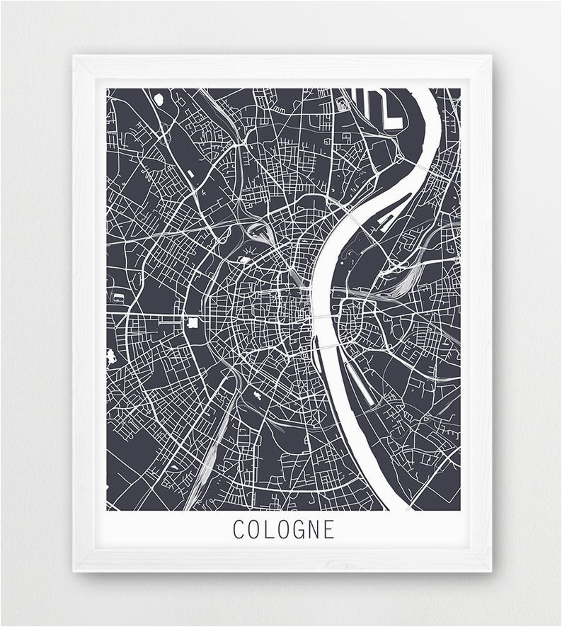 cologne city urban map poster cologne street map print cologne germany grey map modern wall art home decor travel poster printable art