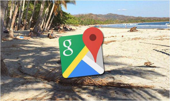 google maps street view bikini woman in optical illusion on costa