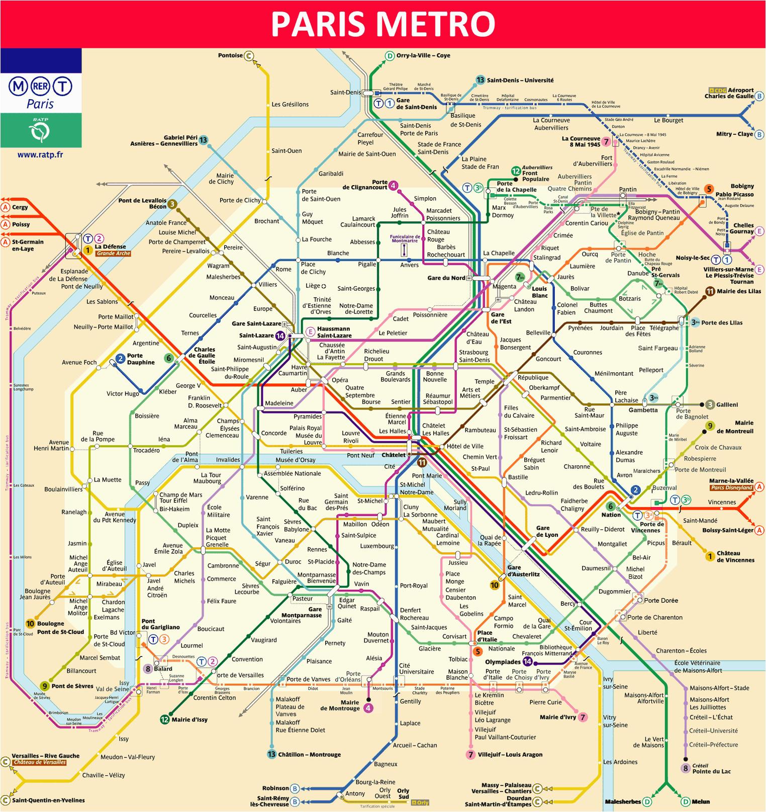 paris metro map 2019 timetable ticket price tourist