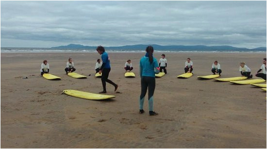 surfing with bundoran surf co in donegal ireland picture