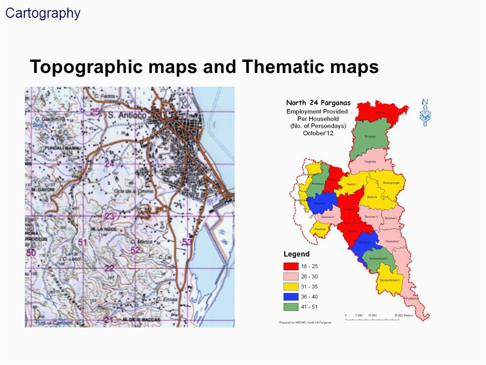cartography topographic maps and thematic maps 1