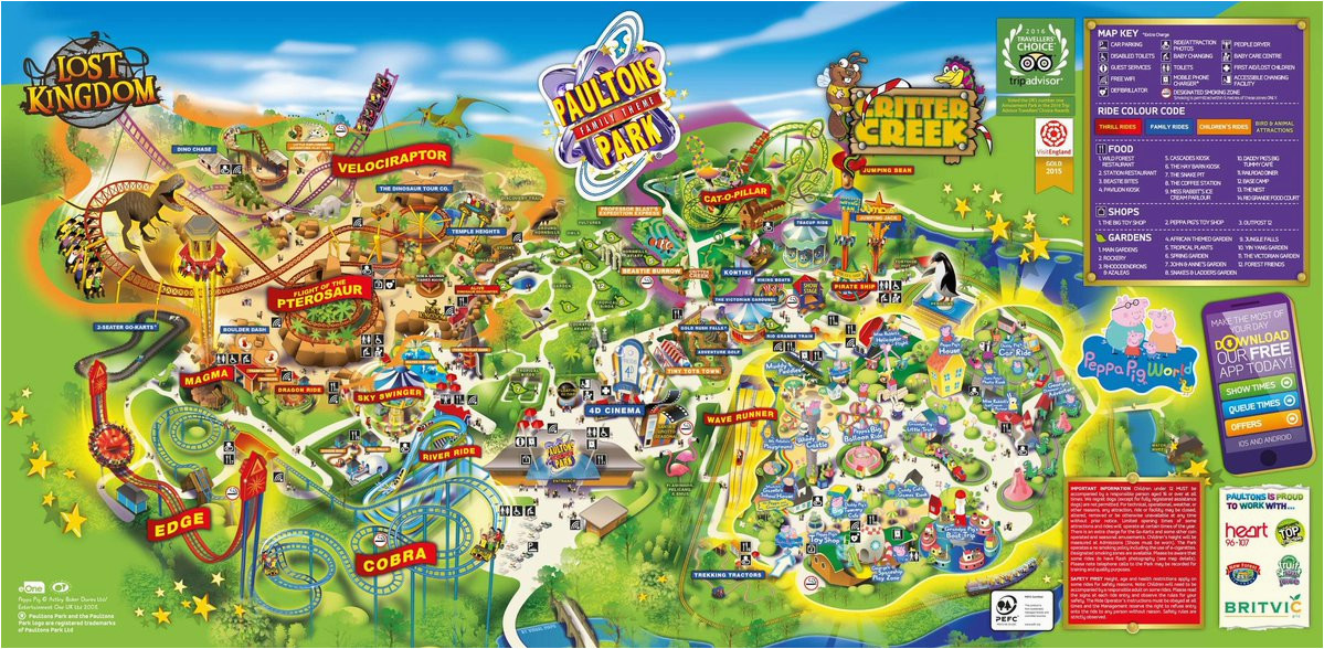Theme Parks In England Map Paultons Parks Uk