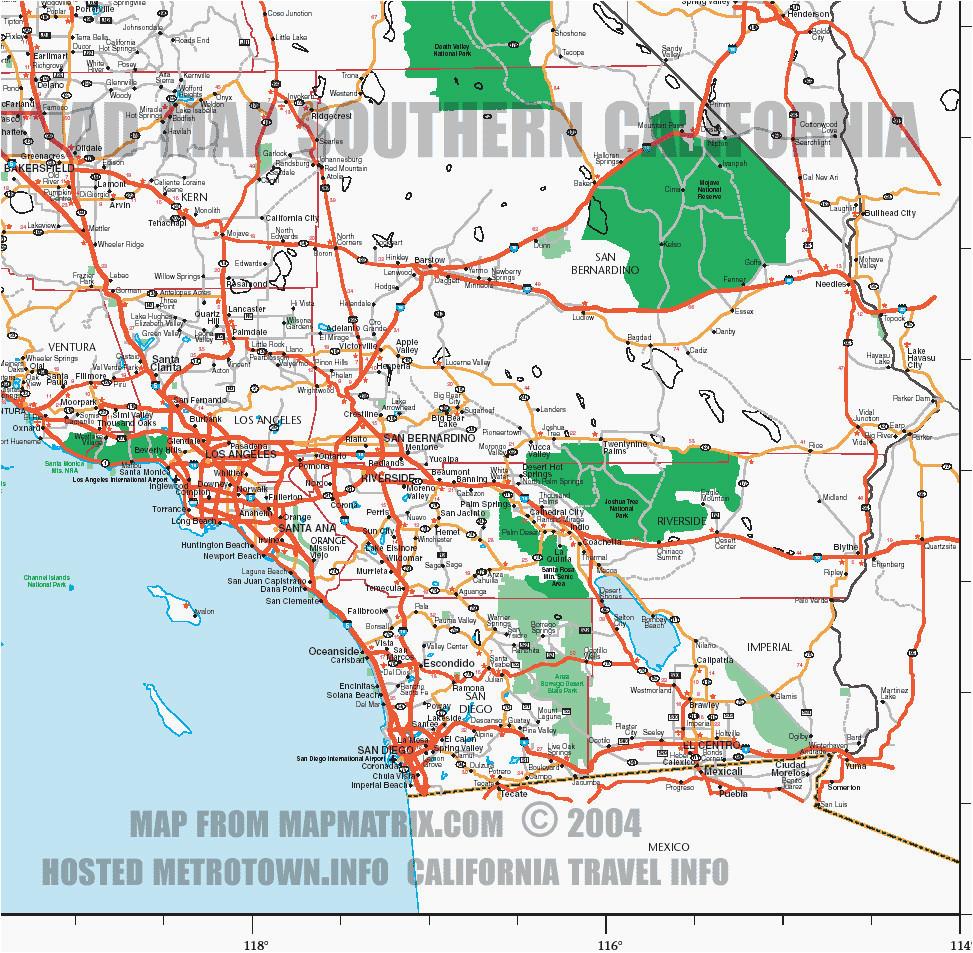 southern california map pdf secretmuseum