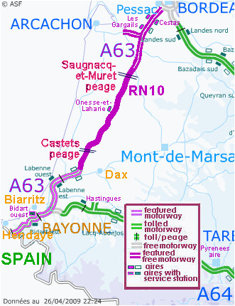 Toll Roads In France Map Motorway Aires the French Wild West Bordeaux to the