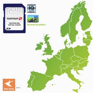 tomtom maps of western europe 1gb 930 5601 5604 retail navigon