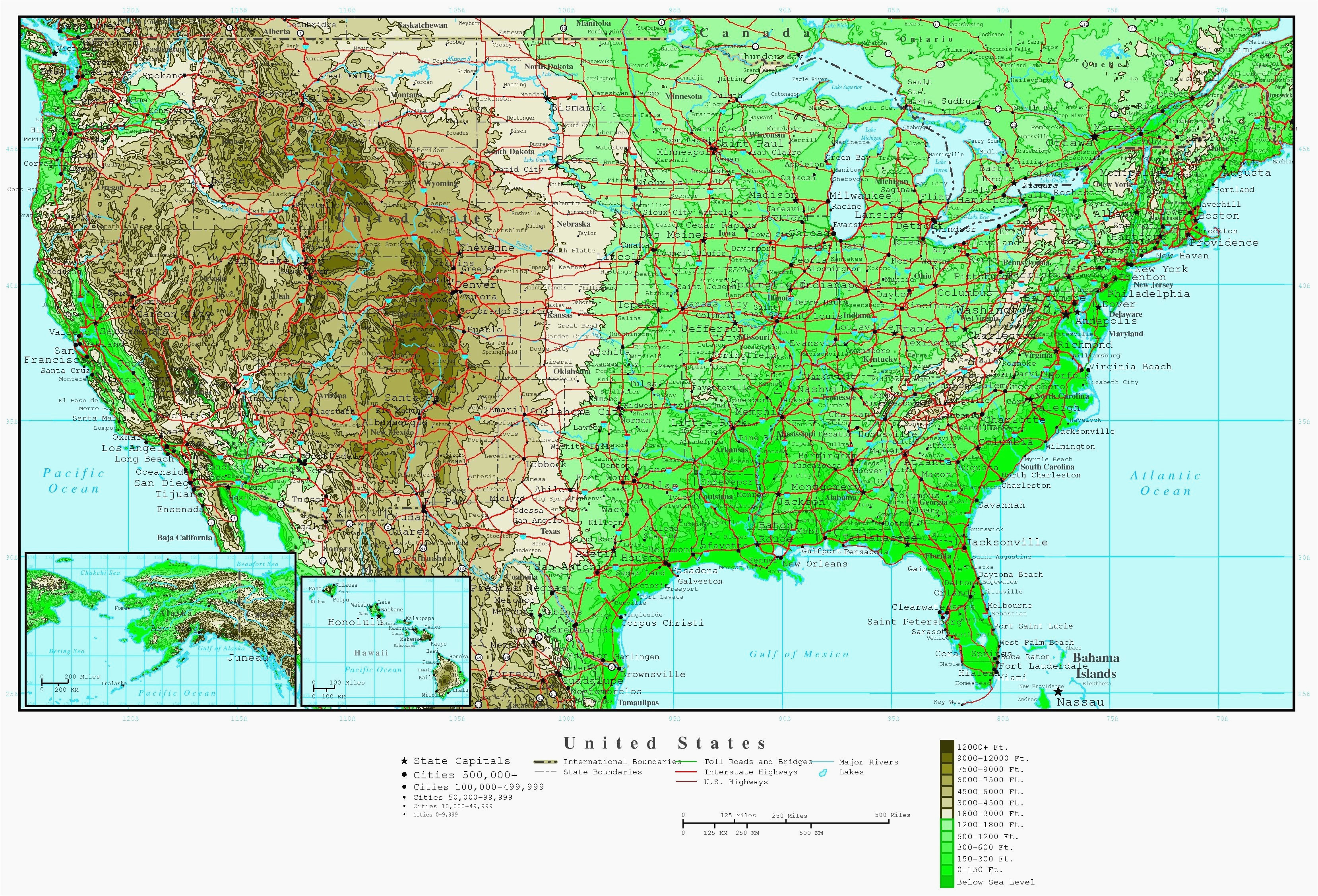 elevation map of alabama us elevation road map fresh us terrain map