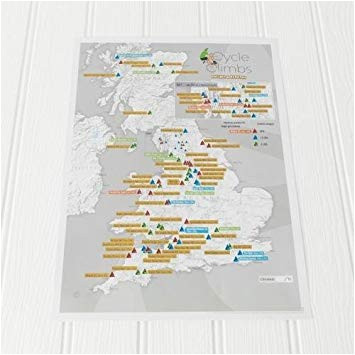maps international cycle climbs collect and scratch off