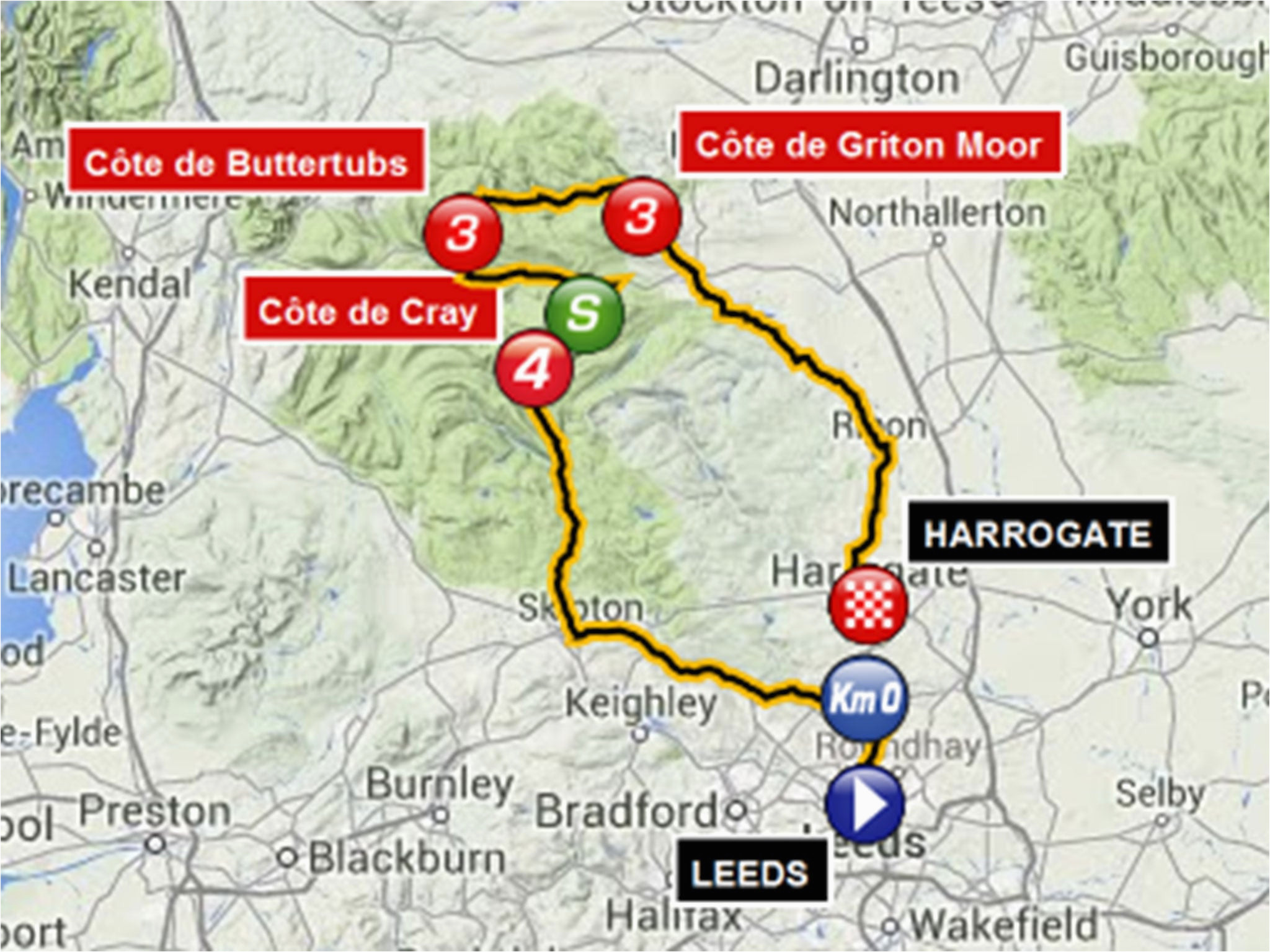 tour de france route 2014 guide to british stages of le