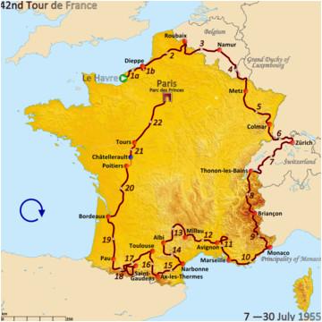 1955 tour de france wikivisually