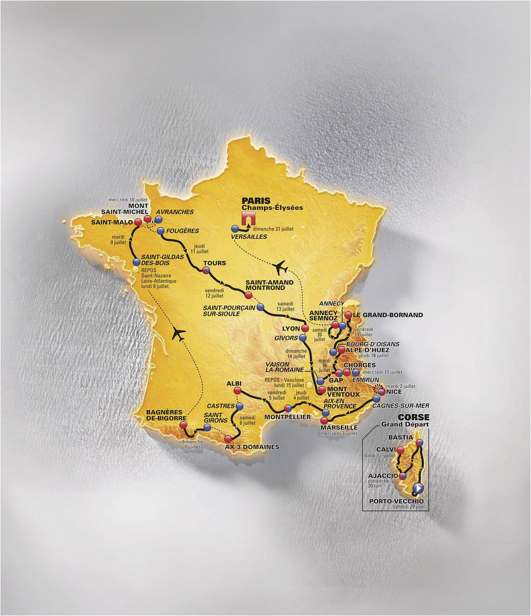 Tour De France Route 2013 Map tour De France 2013