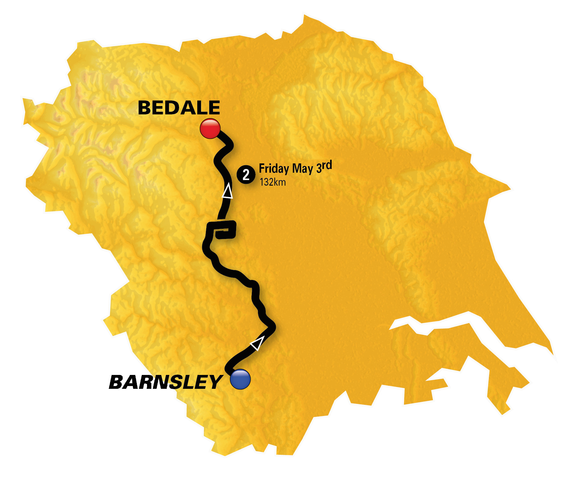 stage 2 barnsley to bedale 132km tour de yorkshire 2