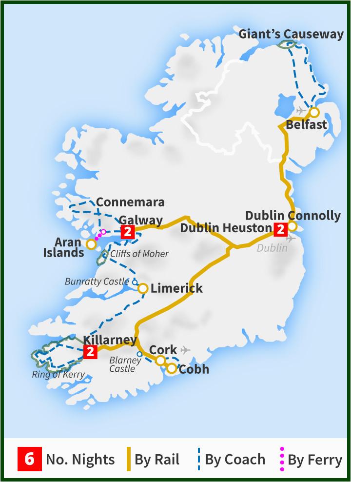 how far is scotland from ireland by train minimalist