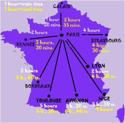 france maps for rail paris attractions and distance