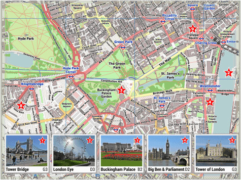 london pdf maps with attractions tube stations