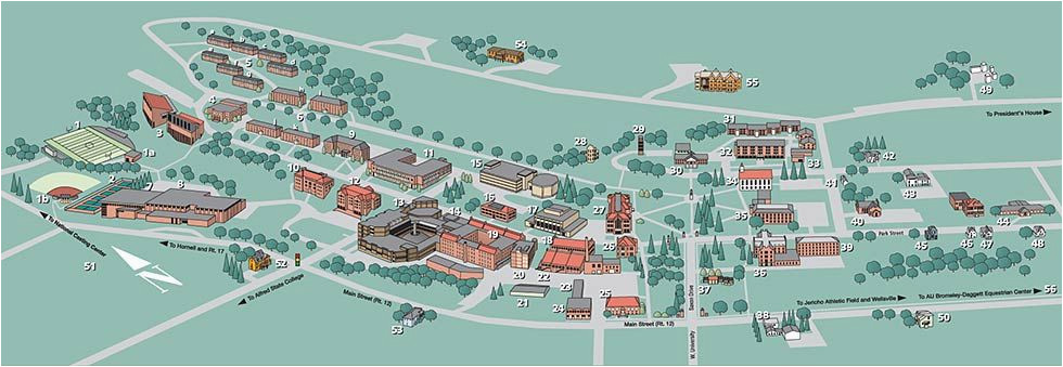 alfred university campus map stuff you should know alfred