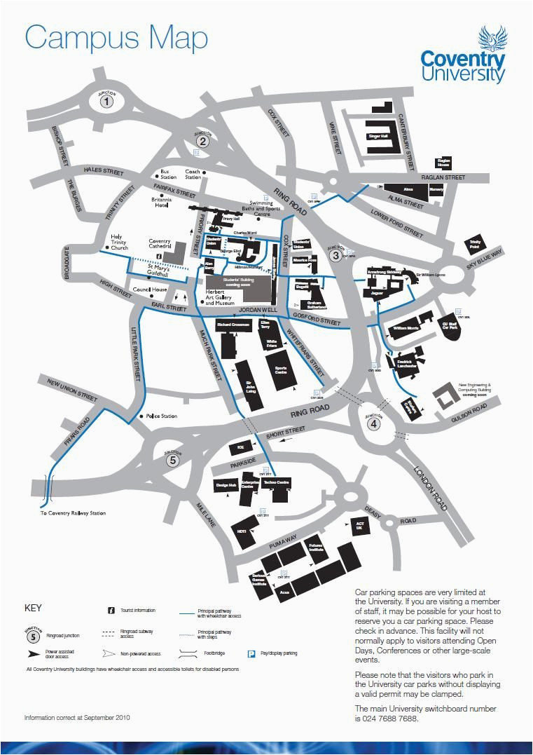 campus map information card edition campus map coventry