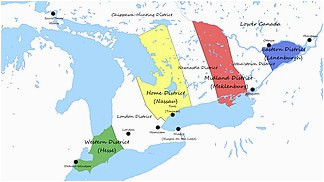 Upper and Lower Canada Map Upper Canada Wikipedia