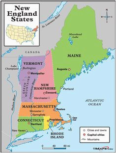 60 best new england maps images in 2019 england map new england