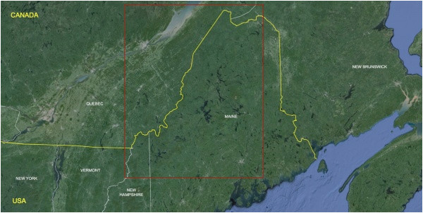 Vermont Canada Border Map