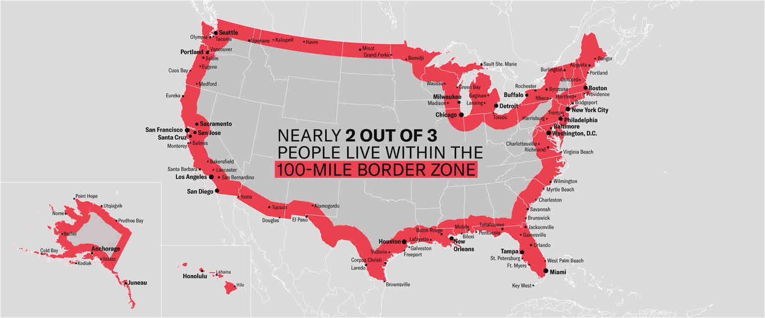 the constitution in the 100 mile border zone american civil