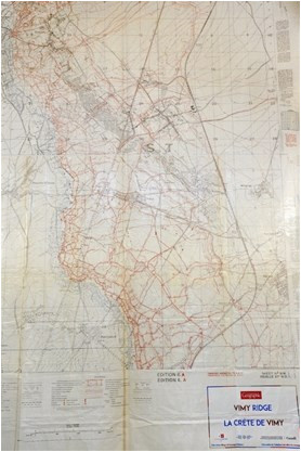 vimy ridge trenches a map to remember thespec com