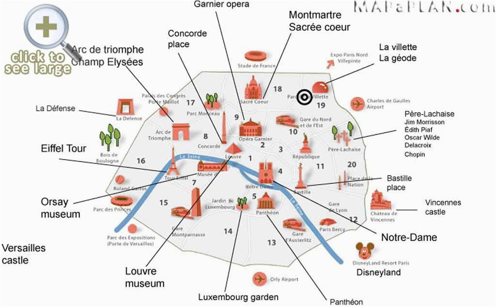 paris top tourist attractions map interesting sites in a