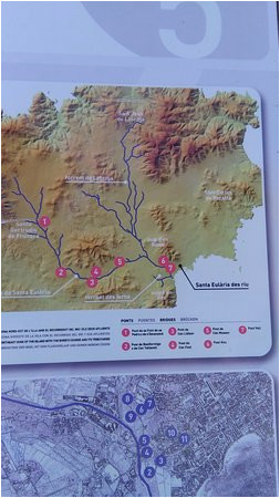 santa eulalia river walk map 2016 picture of santa eulalia river